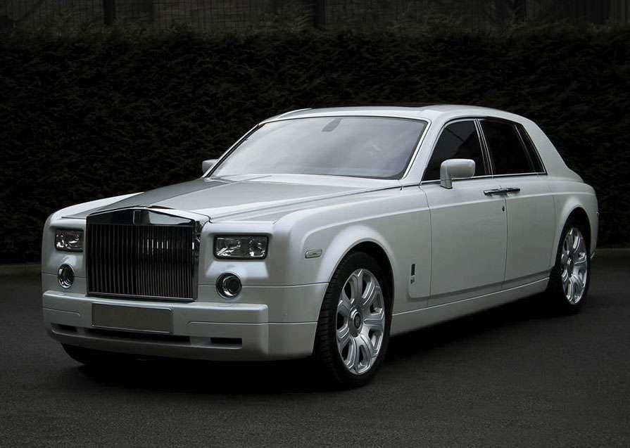 Kahn Pearl White Rolls Royce Phantom
