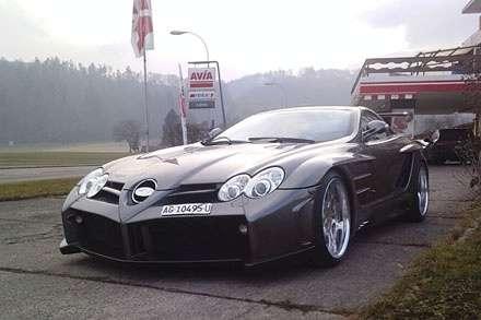 Batmobil? Nie. Mercedes SLR by FAB Design