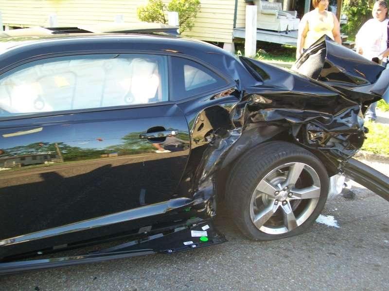 Camaro SS wypadek nastolatek