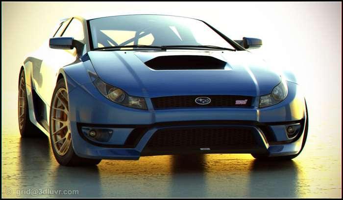 Subaru Impreza szkic