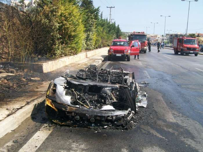 Spalone Lamborghini Gallardo Grecja Ateny