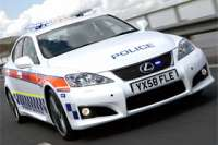 lexus is f police car b