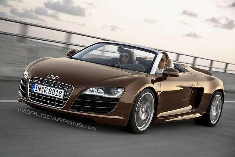 Audi R8 Spider przedpremierowe