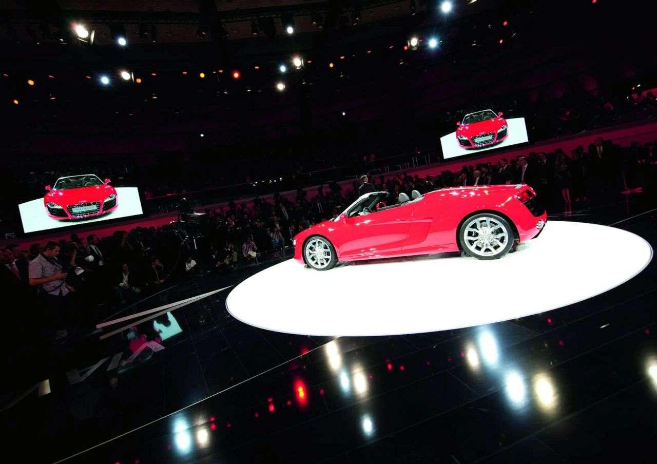 Audi R8 Spyder Galeria Frankfurt 2009