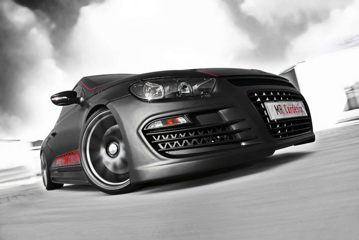 VW Scirocco MR Car Black Rocco 2009