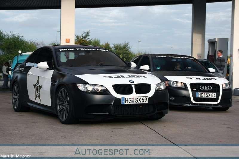 Policja Nurburgring 2009 BMW i Audi