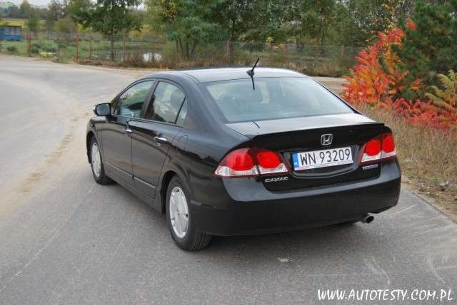 Honda Civic Hybrid 1,3 95KM 2009 test