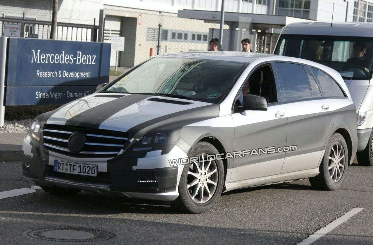 facelifting Mercedesa klasy R 2009 fot szpieg