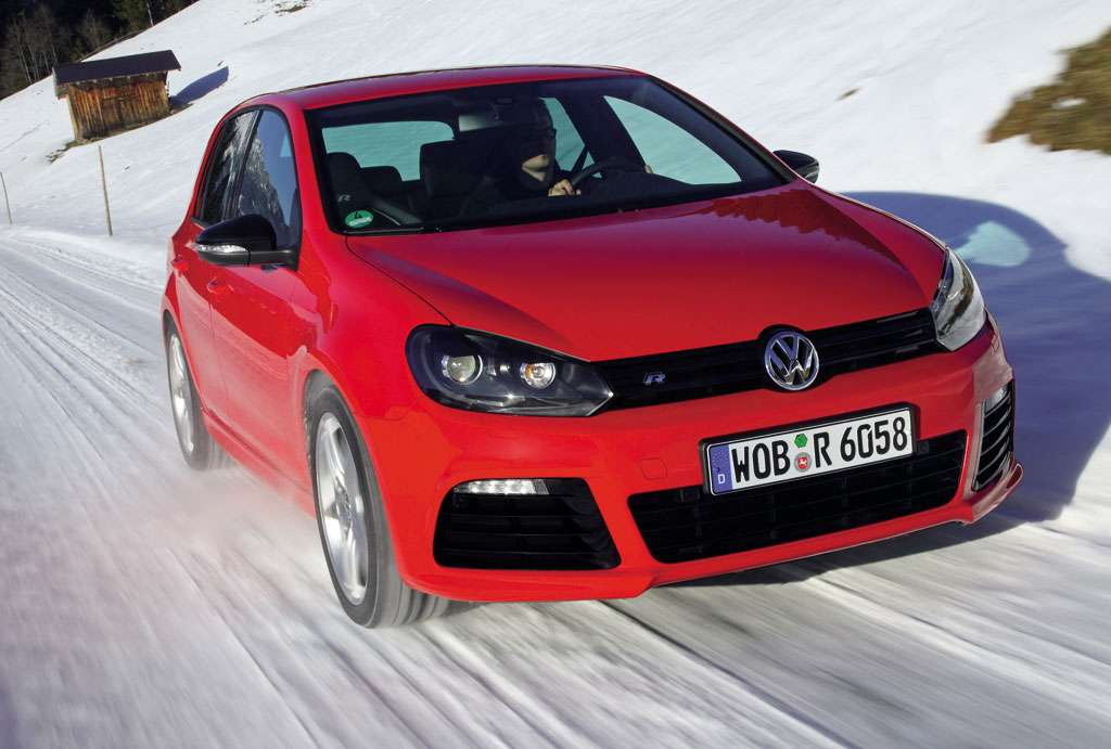 VW Golf R in red 2010
