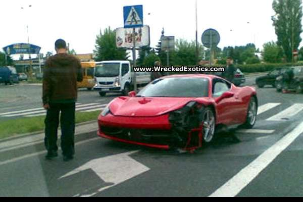 Ferrari 458 Italia crash in Poland 2010