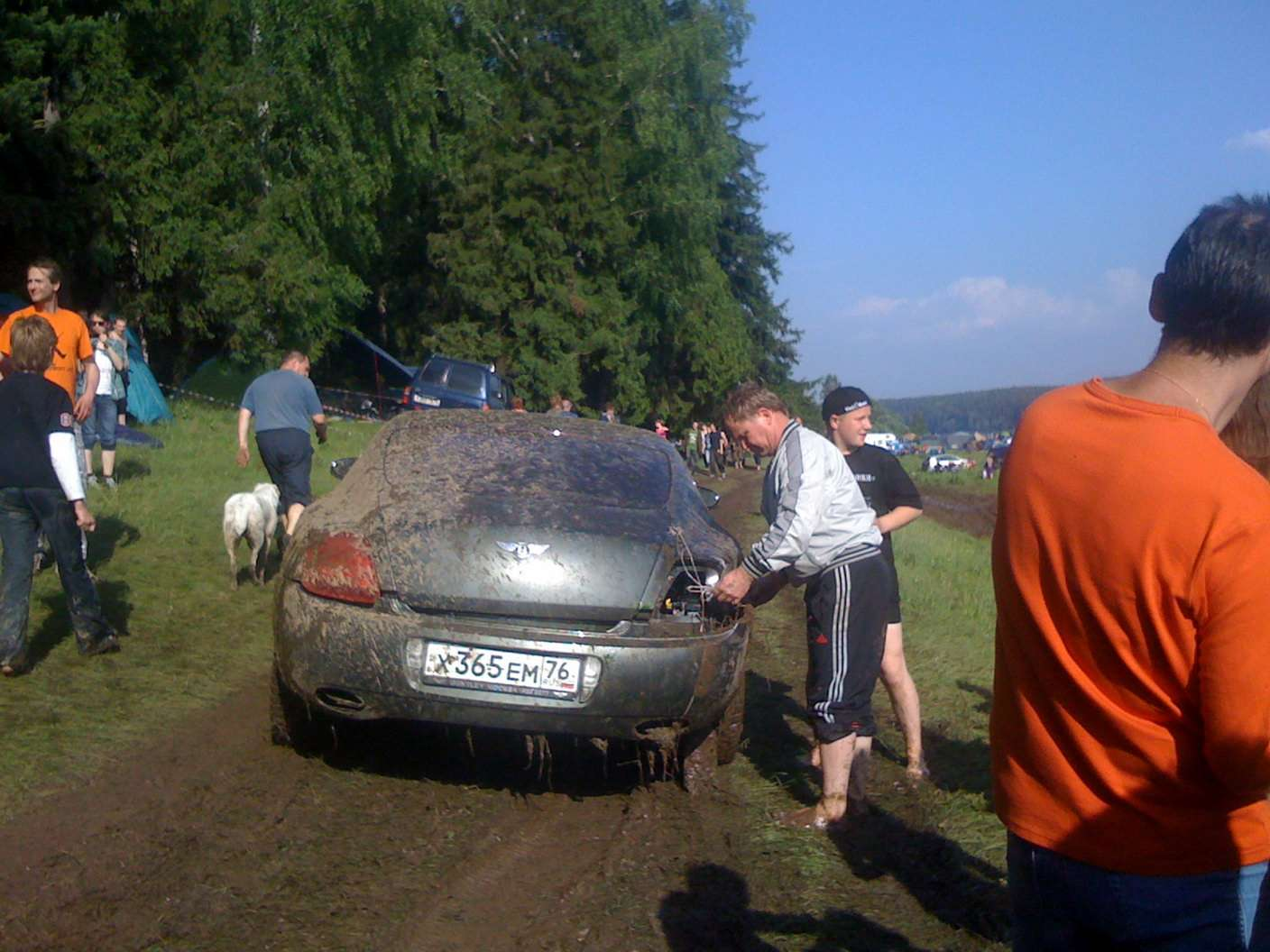 Bentley Continental GT mud czerwiec 2010
