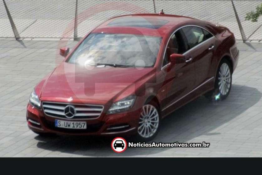 Mercedes CLS 2011 przylapany bez kam lipiec 2010