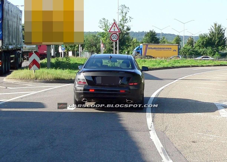 Mercedes C Coupe szpieg lipiec 2010