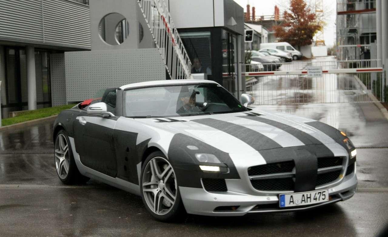 Mercedes SLS AMG Roadster szpieg pazdziernik 2010