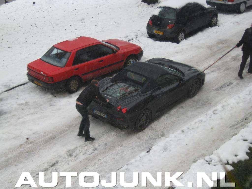 Ferrari F430 Spider zima grudzien 2010