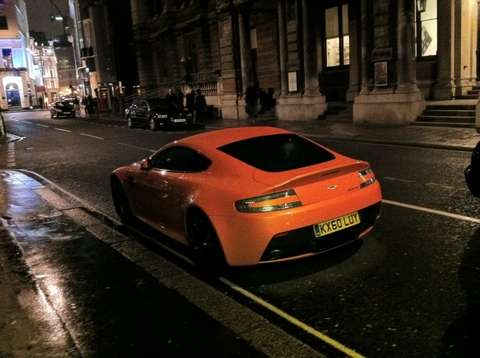 Aston Martin One 77 spotted orange aston luty 2011