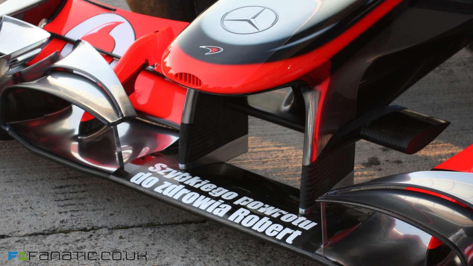 F1 solidarnosc kierowcow Kubica luty 2011