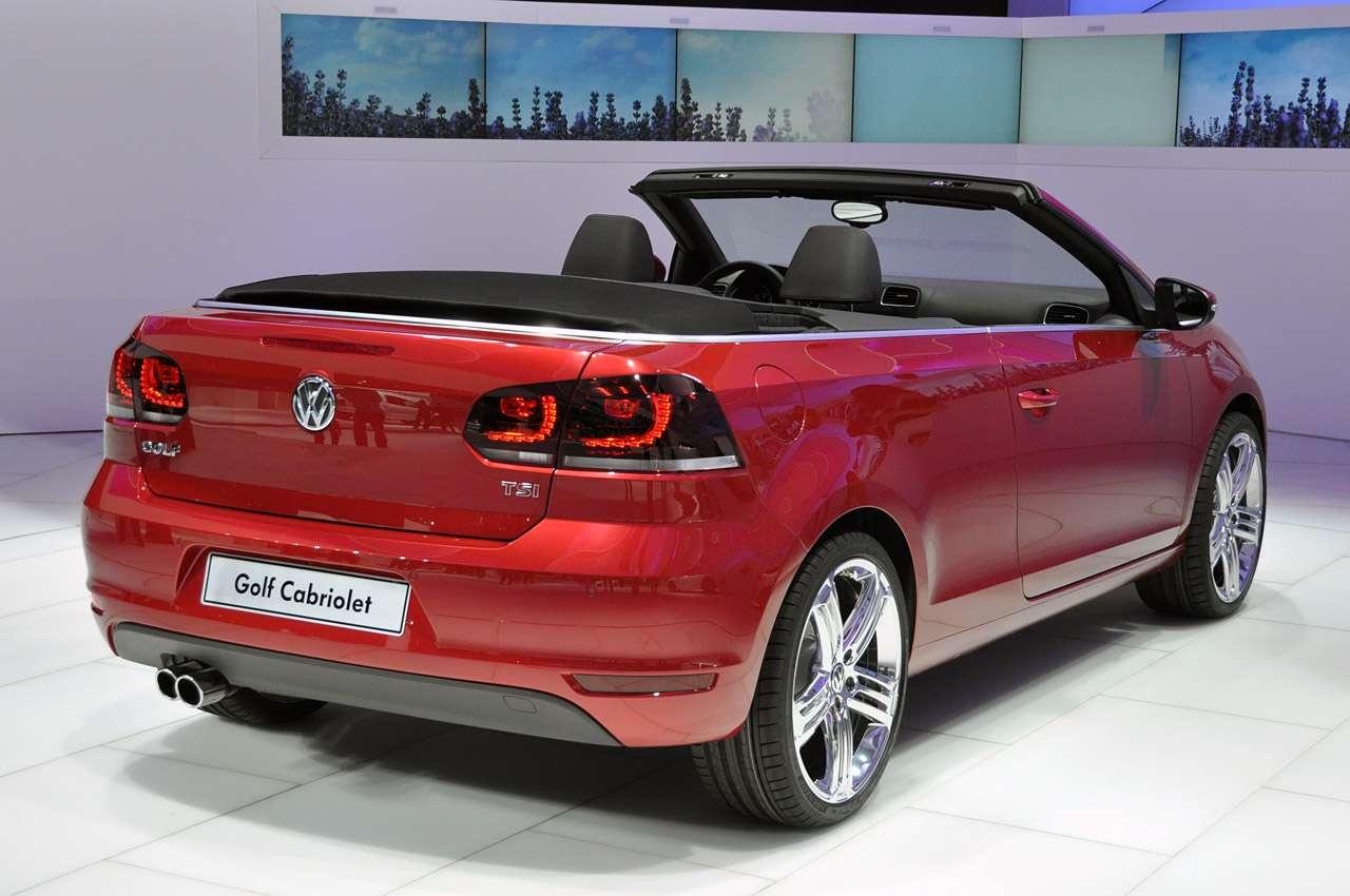 Volkswagen Golf cabrio genewa marzec 2011