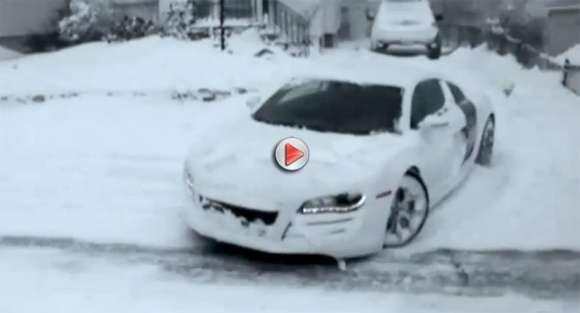 audi r8 snow glo