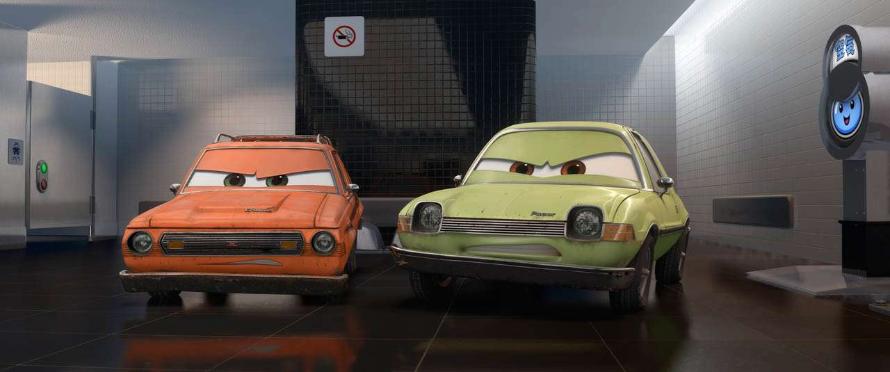 (L-R) Grem (voice by Joe Mantegna), Acer (voice by Peter Jacobson) ©Disney/Pixar.  All Rights Reserved.