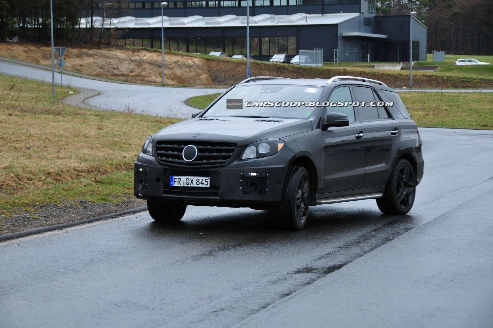 Mercedes ML 63 AMG fot szpieg