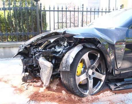 Porsche Panamera Mansory rozbite Maj 2011