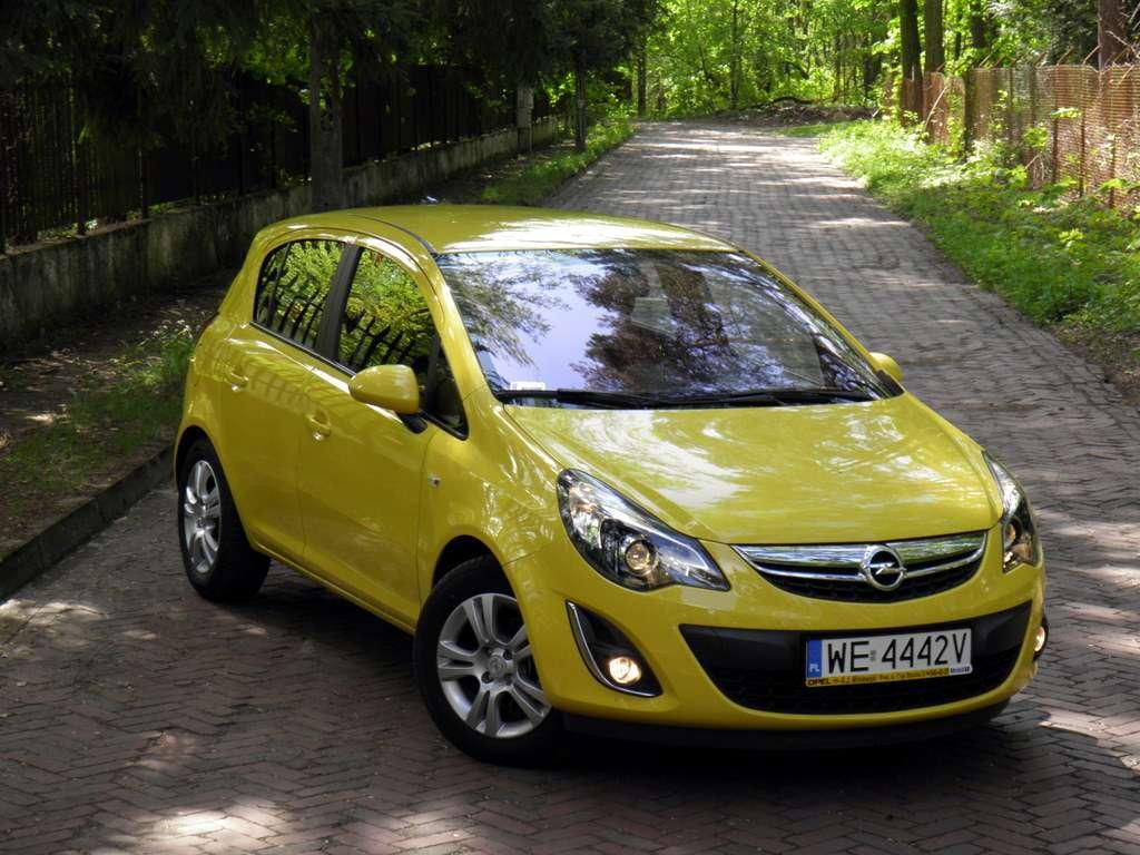 Opel Corsa Yellow