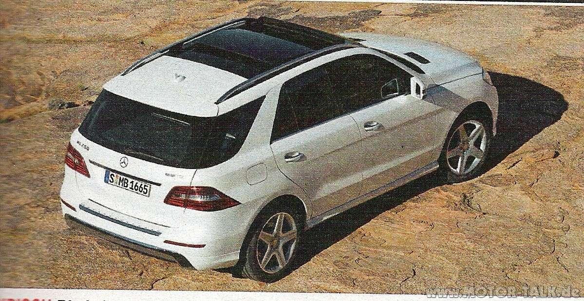 Mercedes Benz ML 2012 wyciek fot broszura czerwiec 2011