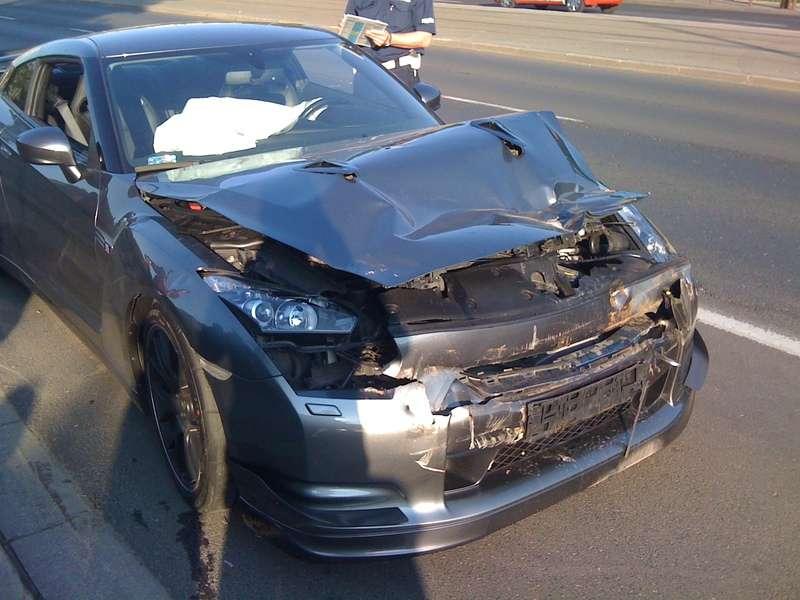 Nissan GTR crash warsaw maj 2011