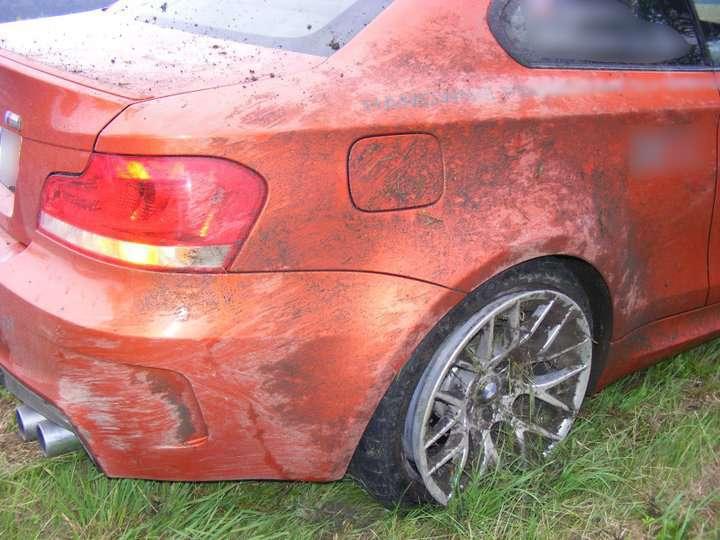 BMW 1M rów Lipiec 2011