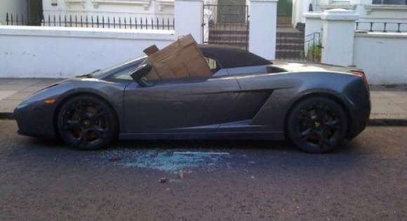 lamborghini gallardo spyder victim of london riots glo
