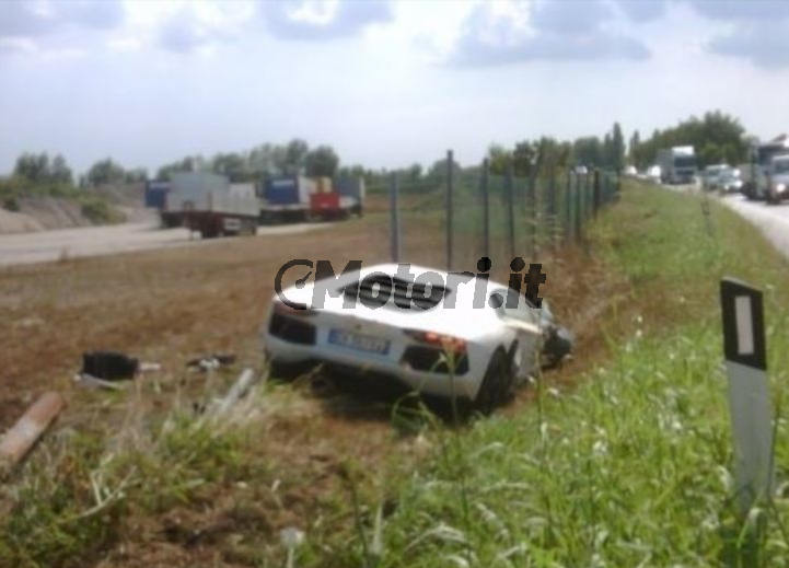 Lamborghini aventador crash wrzesien 2011