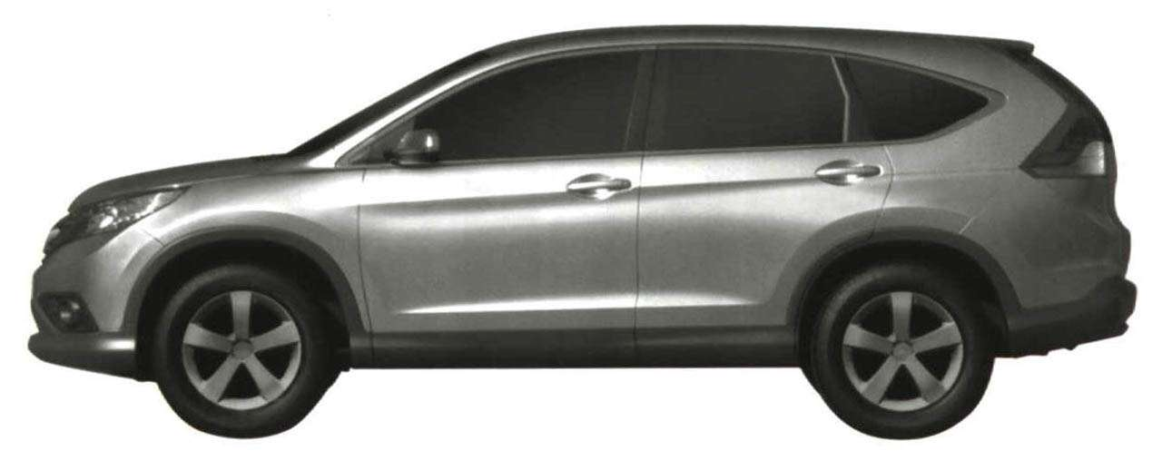 Honda CRV leaked photos ab wrzesien 2011