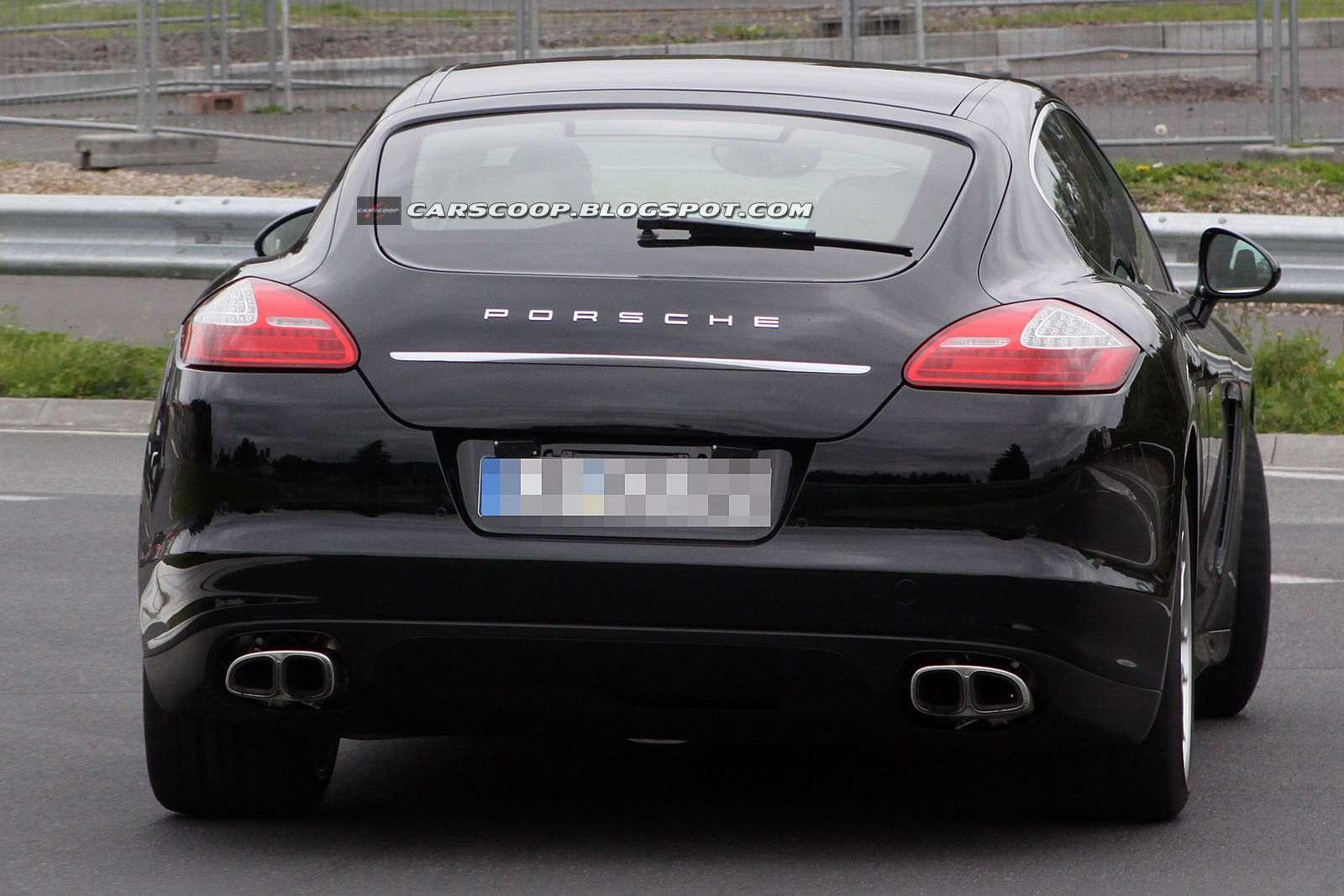 Porsche Panamera facelift szpiegowskie Wrzesien 2011