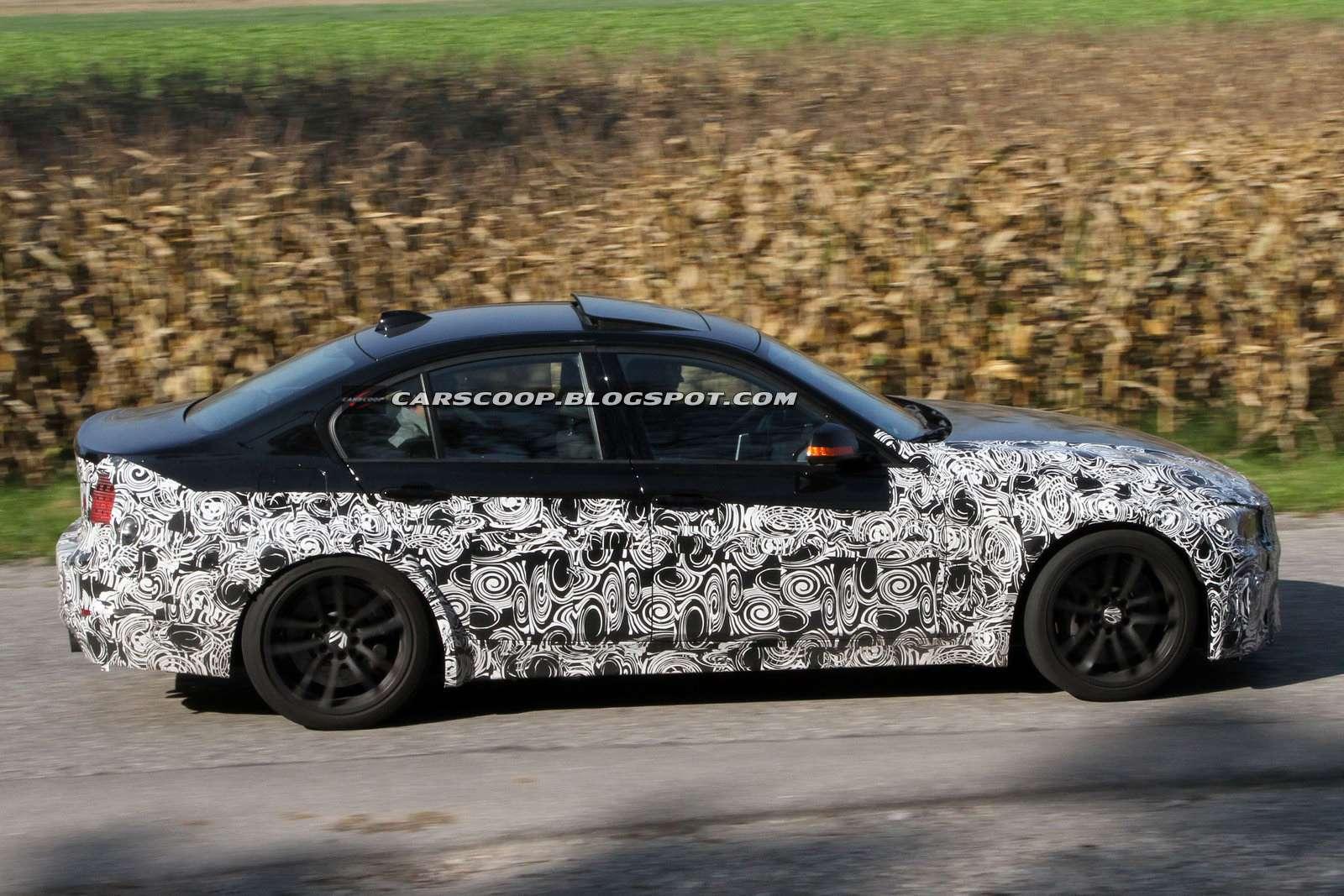 BMW M3 przylapane fot szpieg wrzesien 2011
