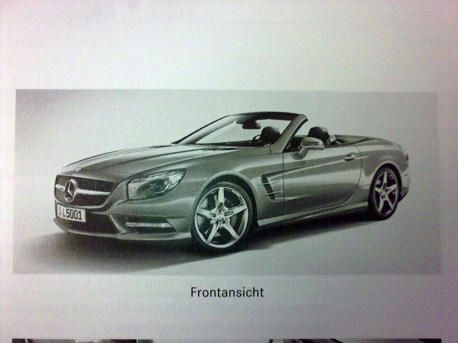 2013 Mercedes-Benz SL Roadster broszura grudzien 2011