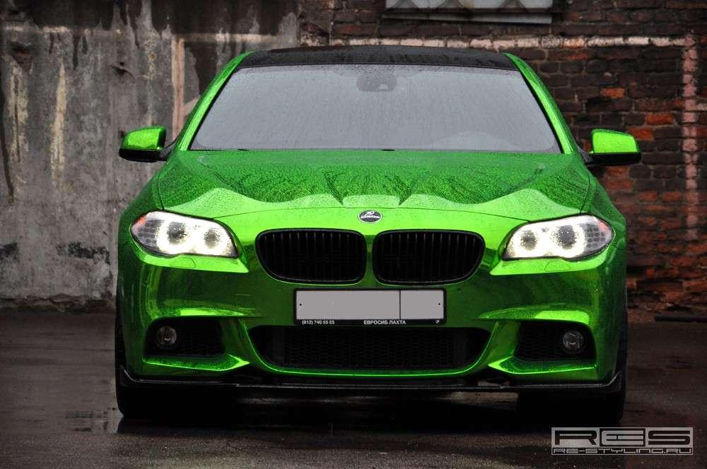 2012 BMW serii 5 M Sport chromowany zielony grudzien 2011