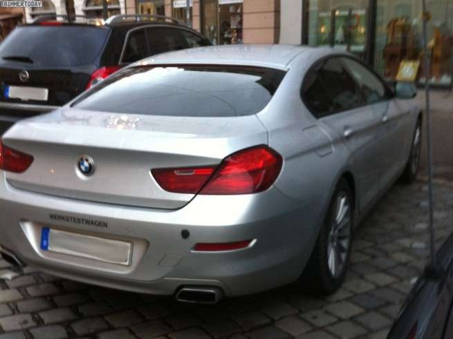 BMW serii 6 Gran Coupe na zywo fot grudzien 2011