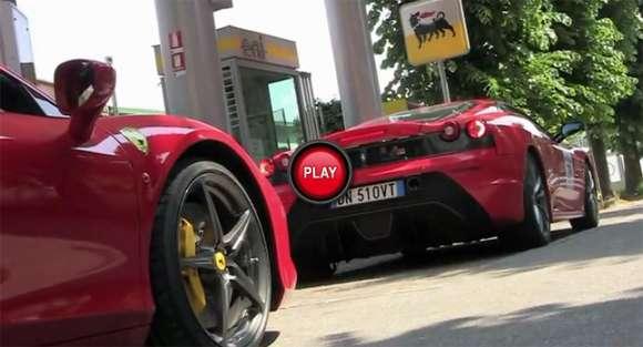 Ferrari na stacji benzynowej