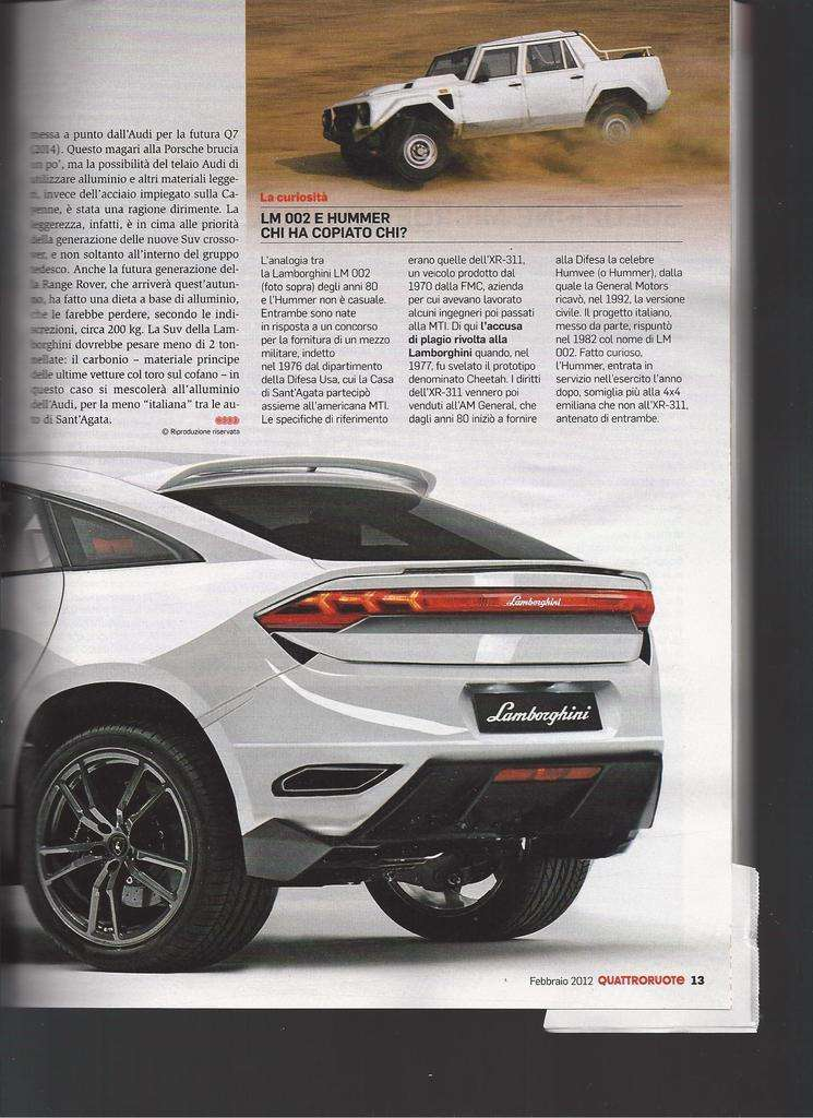 Lamborghini crossover concept fot przeciek styczen 2012