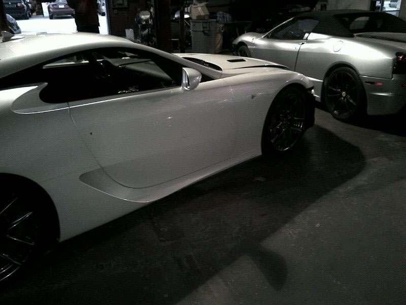 Lexus LFA wypadek crash styczen 2012