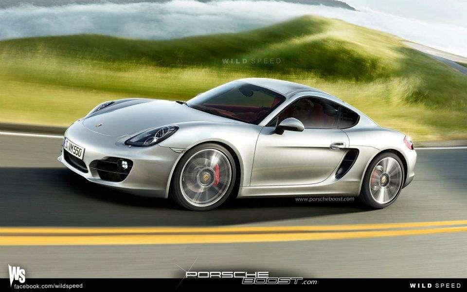 Porsche Cayman new wizualizacja fot styczen 2012