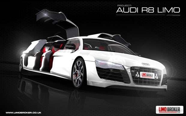 Audi R8 jako limuzyna wizualizacja styczen 2012
