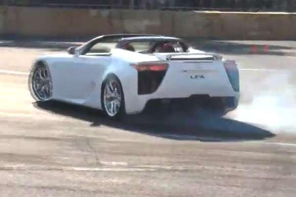Lexus LFA Roadster impreza japan styczen 2012