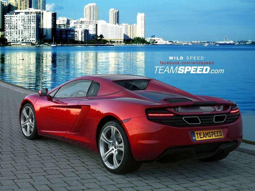 Wizualizacja otwartej wersji supersamochodu McLarena styczen 2012