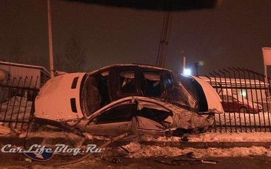 Mercedes S65 AMG rosja wypadek styczen 2012