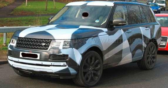 Nowy Range Rover 2013 szpiegowskie