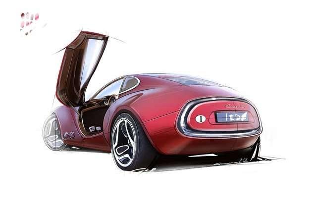 Cisitalia 202 E Sports Coupe Concept Genewa 2012