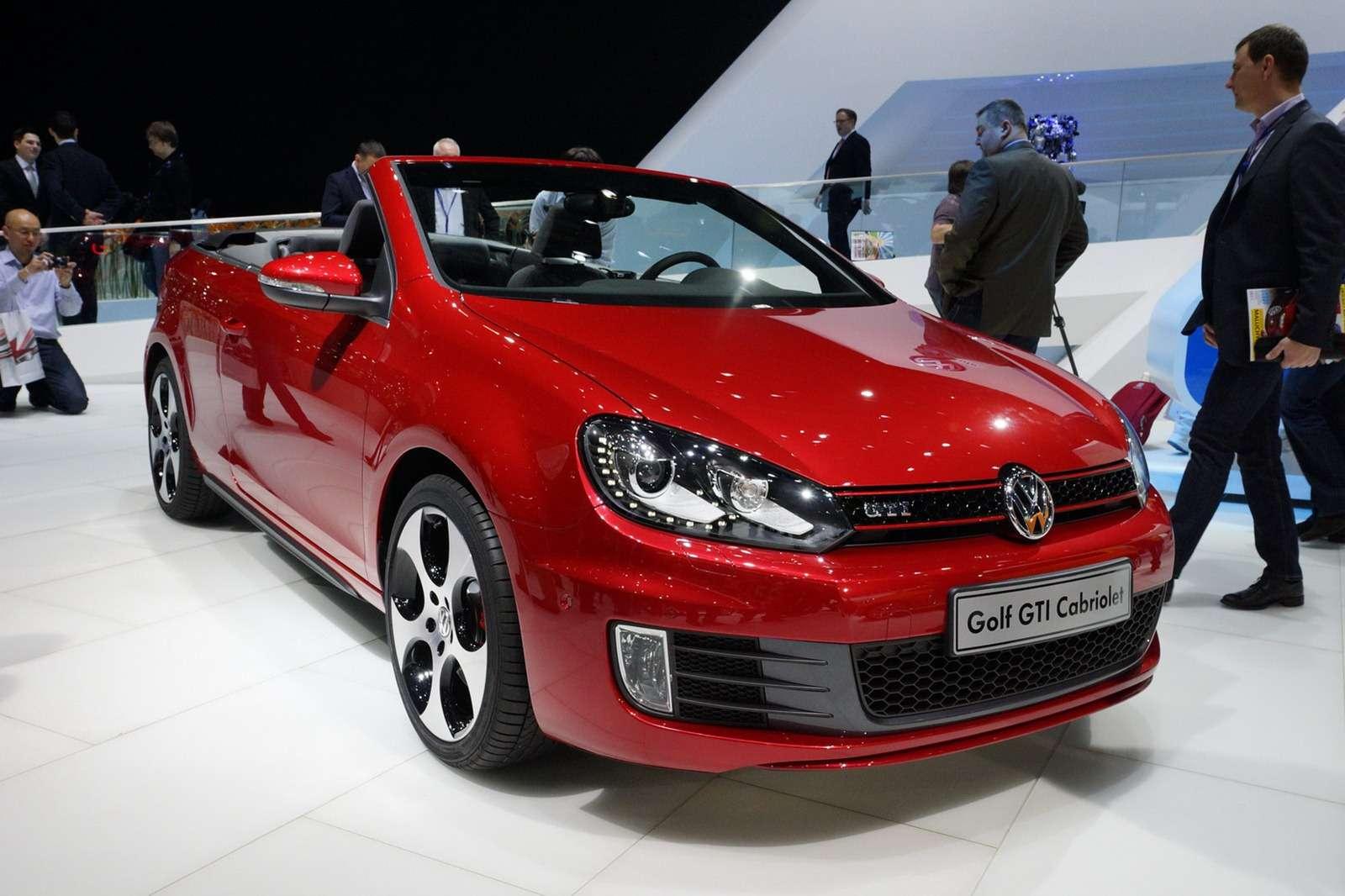 Volkswagen Golf GTI Cabriolet oficjalnie Genewa 2012