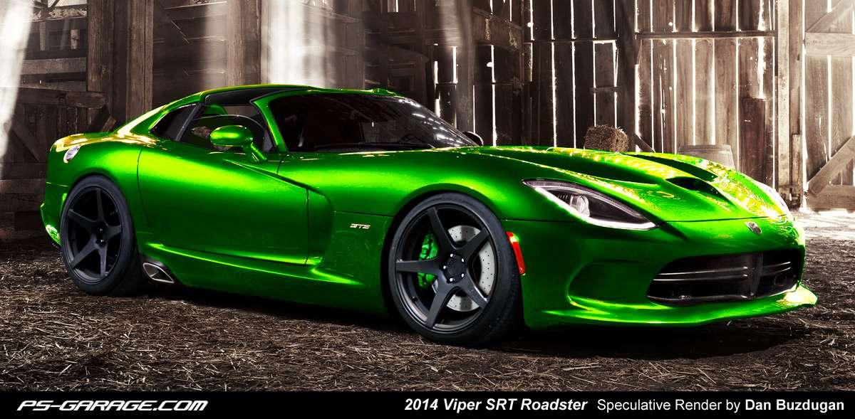 SRT Viper GTS roadster rendering